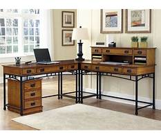 Best L shaped computer desk with drawers