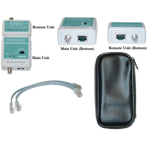 LANtest-E Wire Mapping Cable Tester, Tests Cat5e, Cat6, Cat6a, Coaxial (BNC) and Telephone runs