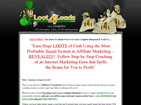 @ Loot4leads  New Loot4leads - Your Cpa Marketing Package .