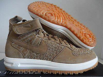 LUNAR FORCE 1 ONE FLYKNIT WORKBOOT 855984-200 FLAX GOLDEN BEIGE SIZE: 9.5
