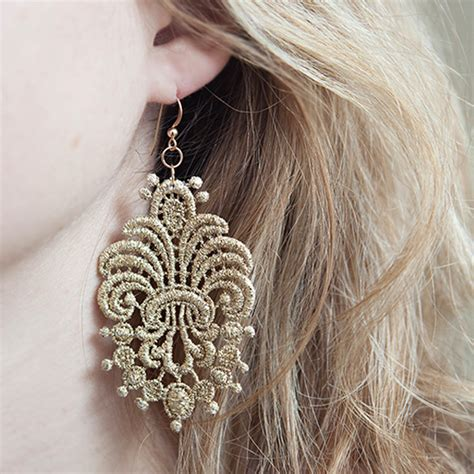 Lace Earrings Diy Different
