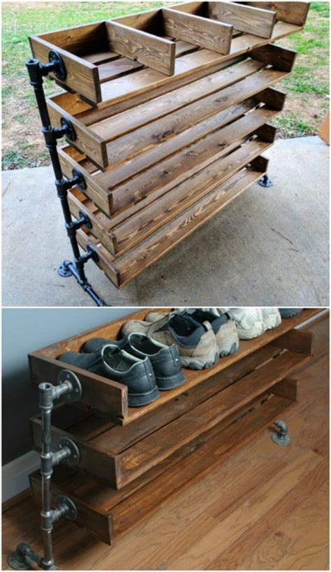 Ladder Shoe Rack Diy Wood