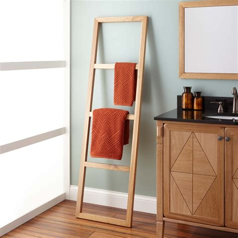 Ladder Towel Rack Wood