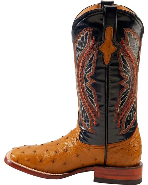 Ladies Full Quill Ostrich Sq Boots