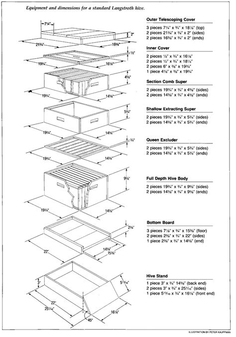 Langstroth Bee Hive Plans Box Joints Sizes