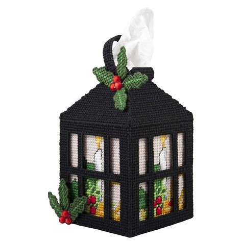 Lantern Plastic Canvas Tissue Box Cover