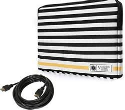 Laptop Sleeve Case Travel for Dell Alienware XPS Chromebook Inspiron Latitude 13 inch + HDMI Cables