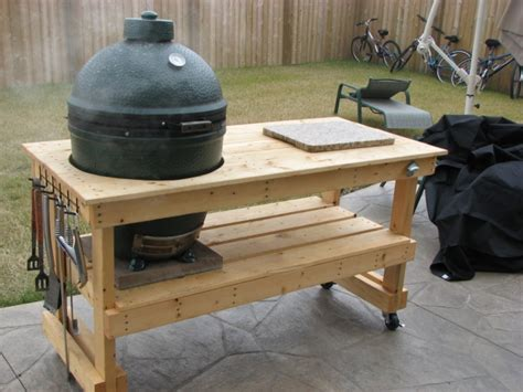 Large Big Green Egg Stand Plans