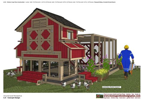 Large Chicken Barn Plans