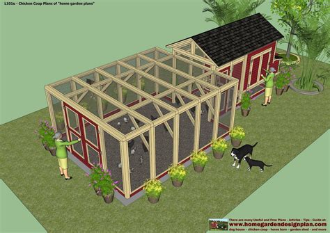 Large Chicken Coop Floor Plans