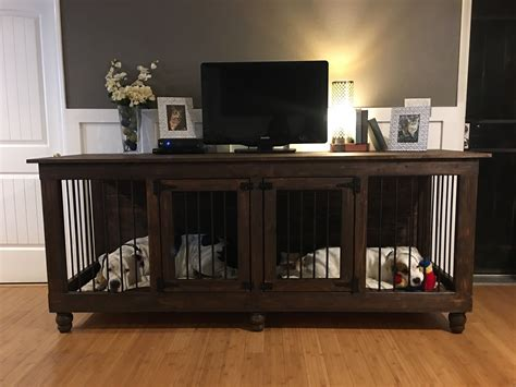 Large Dog Crate Tv Stand Diy With Barn