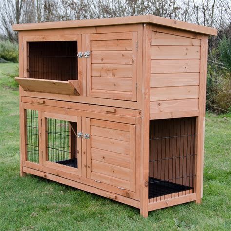 Large Double Rabbit Hutch Cover