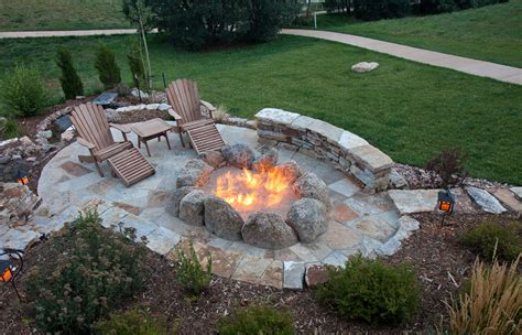 Large Fire Pits Outdoor Building Plans