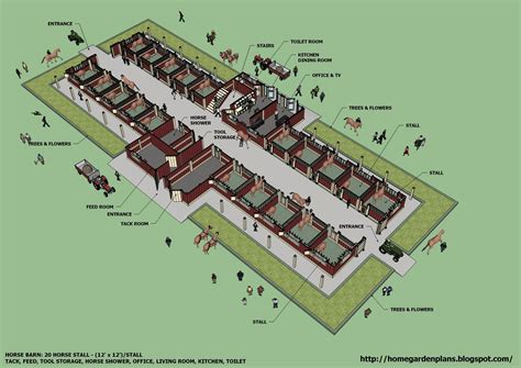 Large Horse Stable Plans