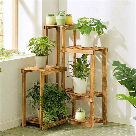 Large Indoor Wooden Plant Stands