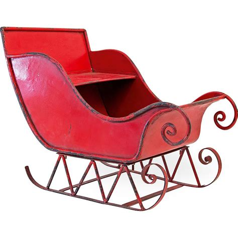 Large Metal Christmas Sleigh Decorations For Sale