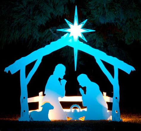 Large Outdoor Wooden Nativity Patterns