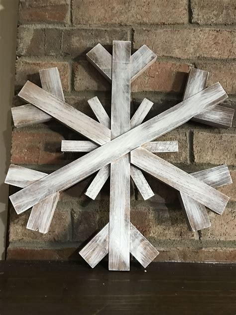 Large Snowflake Wooden Image Diy