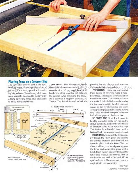 Large Table Saw Sled Plans Free