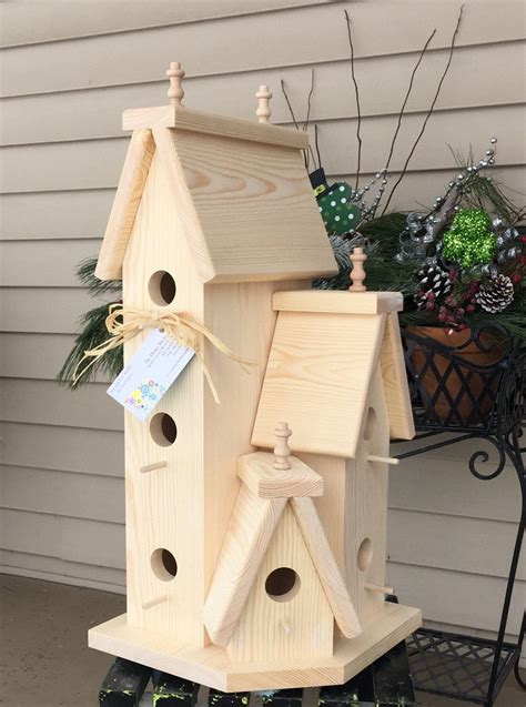 Large Wooden Bird House Plans