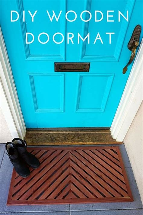 Large Wooden Doormat DIY