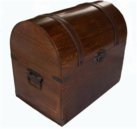Large Wooden Treasure Chest Box