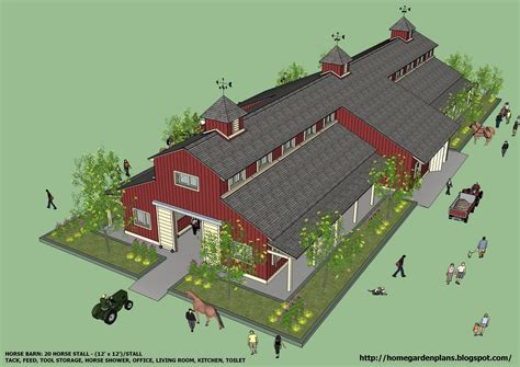 Large-Horse-Barn-Plans