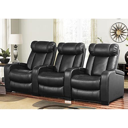 Larson Leather Reclining Home Theater Seating