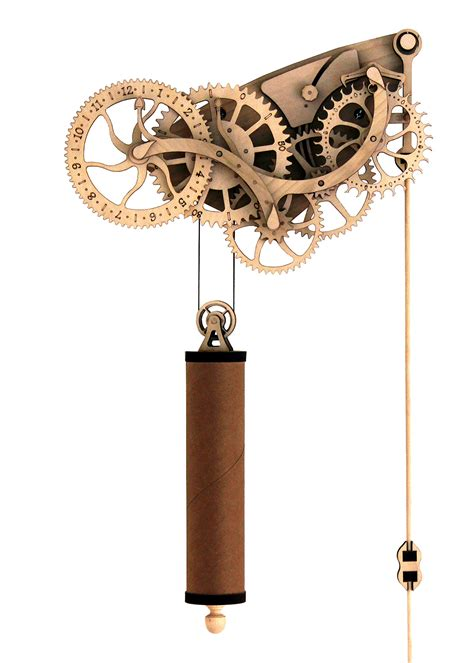 Laser-Cut-Mechanical-Clock-Plans