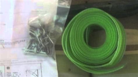 Lawn Chair Plastic Webbing Youtube