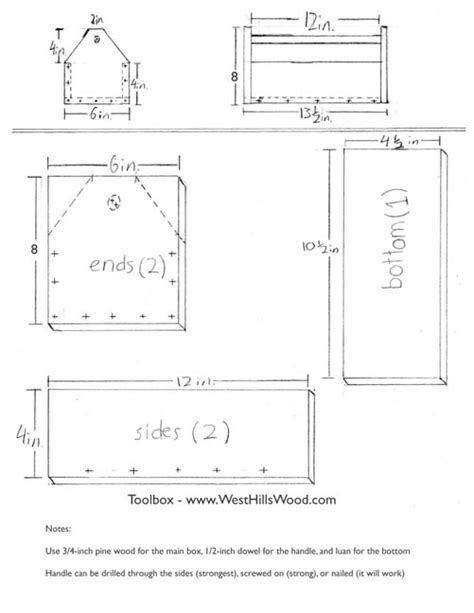 Layout For Metal Toolbox Plans For Kids