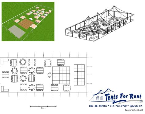 Layout Plans For Tables At A Large Wedding Tents