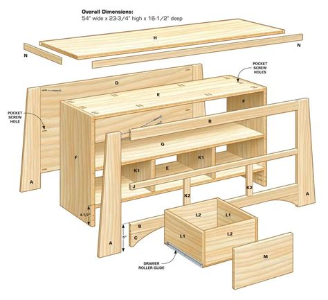 Lcd-Tv-Stand-Woodworking-Plans