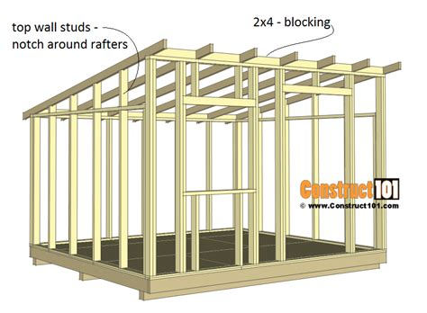 Lean To Roof Plans 10x12