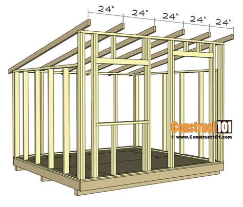 Lean To Shed Plans 10x10
