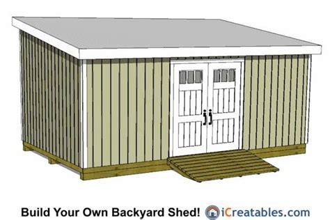 Lean To Shed Plans 12x20