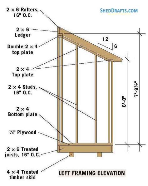 Lean To Shed Plans 4x6