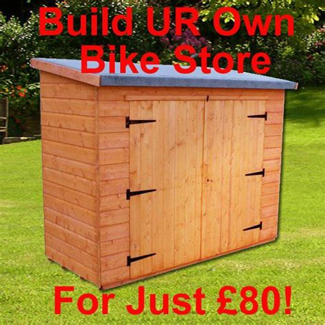 Lean-To-Bike-Shed-Plans