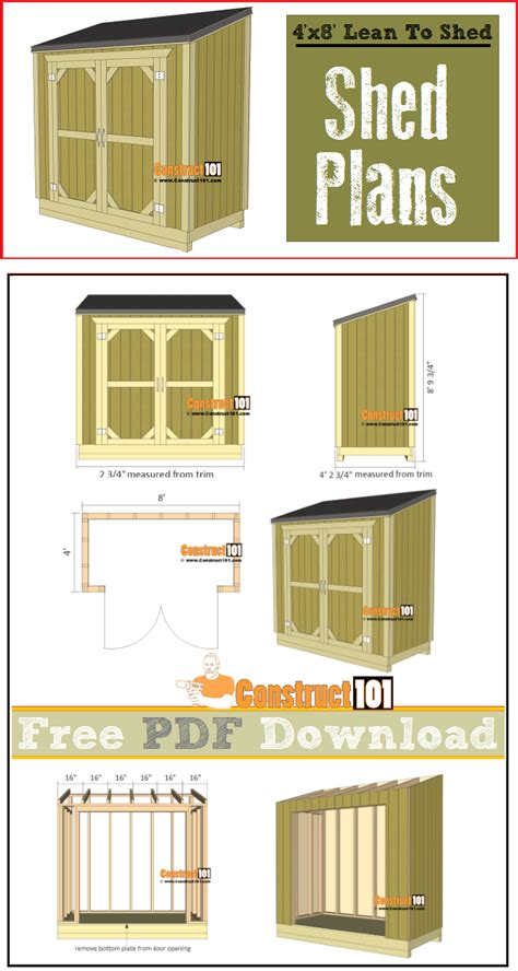 Lean-To-Shed-Plans-Free-Download