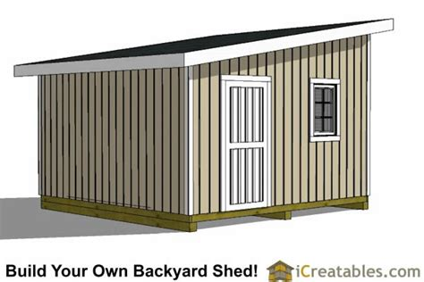 Lean-To-Shed-Plans-With-Garage-Door