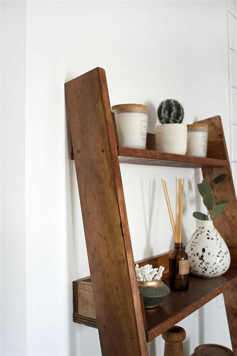 Leaning Wood Shelf Diy