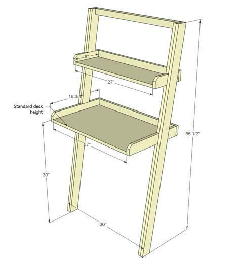 Leaning-Desk-Building-Plans