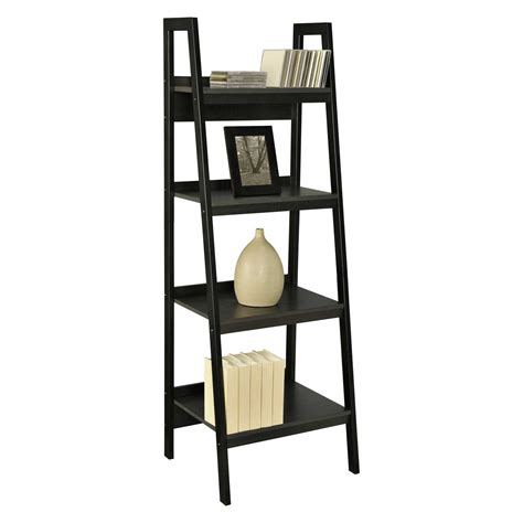 Leaning-Ladder-Bookshelf-Plans