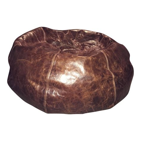 Leather Bean Bag Chair Sam& 39