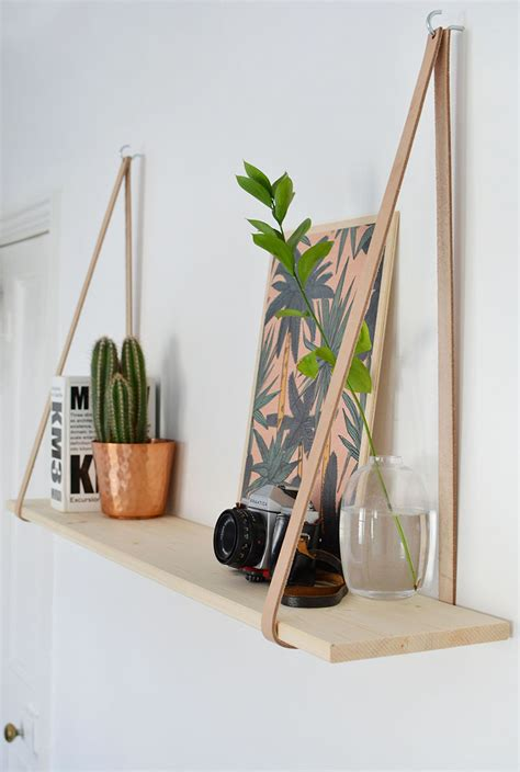 Leather Hanging Shelves Diy