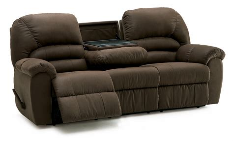 Leather Reclining Sofa With Drop Down Table