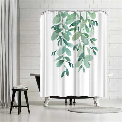 Leaves Pattern Shower Curtain By East Urban Home
