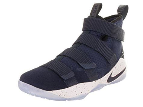 Lebron Soldier Xi Mens Basketball Shoes (11.5 D(M) US, College Navy/College Navy-White-Team Red)