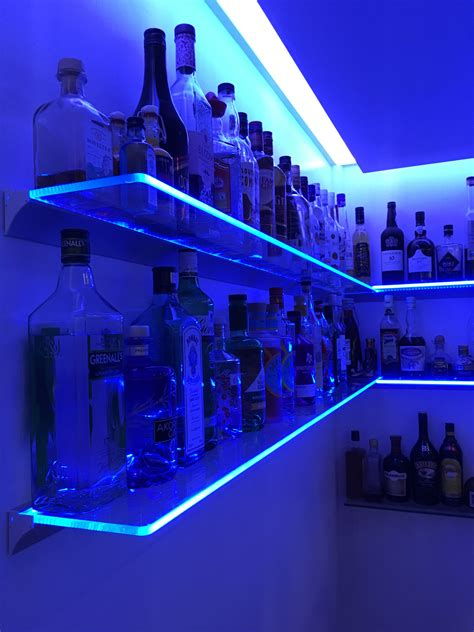 Led Glass Shelves Diy