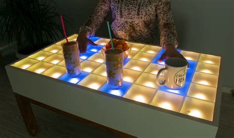 Led Wood Coffee Table Diy Projects